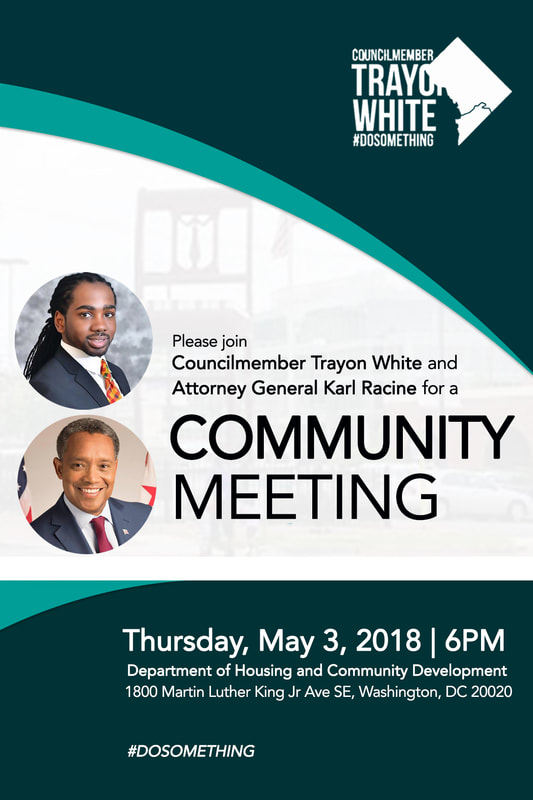 Community meeting with Trayon White and Karl Racine 05-03-2018