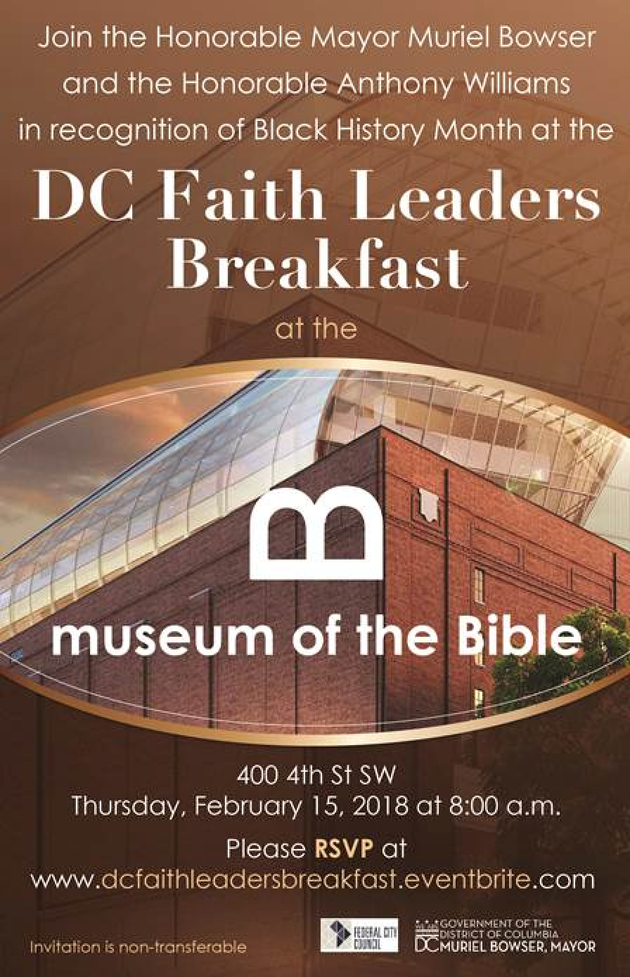 DC Faith Leaders Breakfast at Museum of the Bible 02-15-2018