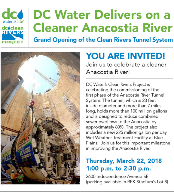 DC Water Grand Opening of Clean Rivers Tunnel System