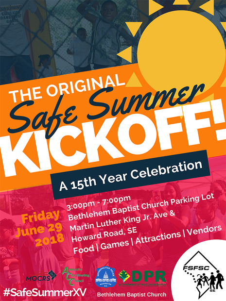 Safe Summer 2018 Kickoff Event Flyer