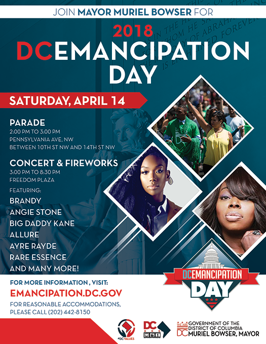 2018 DC Emancipation Day Parade Notice and Application