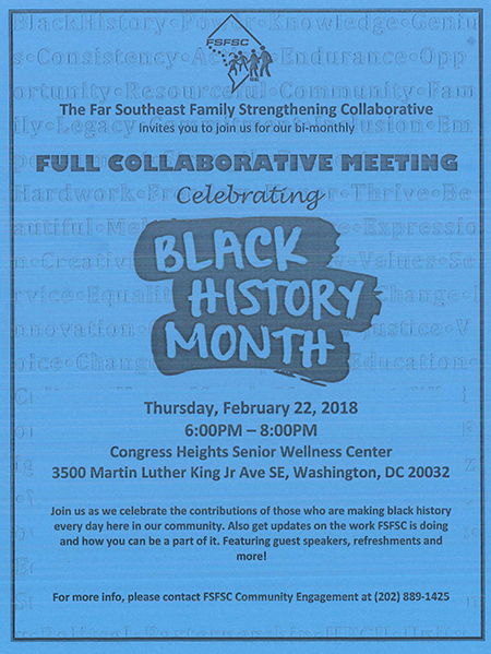Far Southeast Black History Month Meeting 02-22-2018