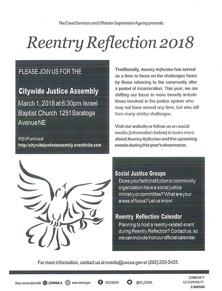 CSOSA Reentry Reflection 2018